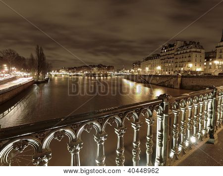 River Seine In Winter