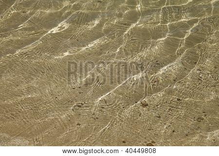 A Background Of Sun And Shadows On Sandy Ocean Floor