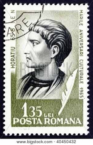 Postage stamp Romania 1965 Horace, Roman Poet