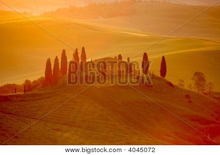 Early-morning Light On An Italian Villa