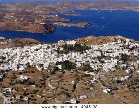 Patmos Island Aerial
