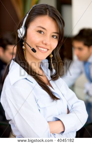 Business Customer Service Woman