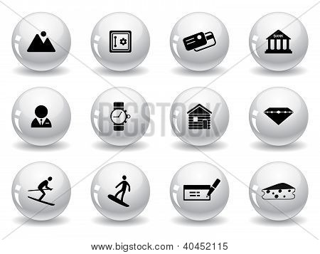 Web buttons, Switzerland symbols