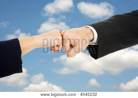 Business Fist Bump Sky
