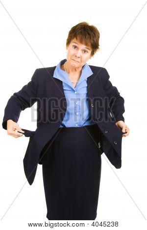Businesswoman Flat Broke