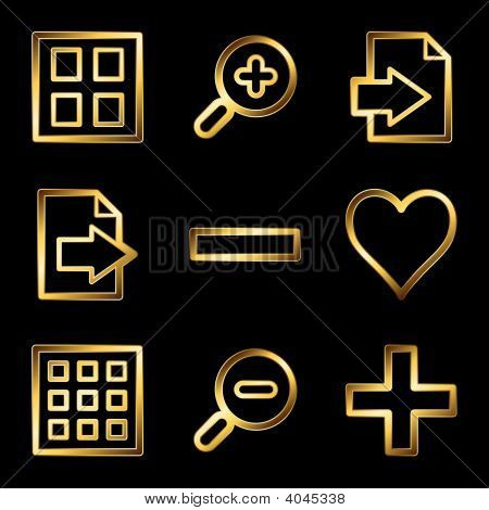Gold Luxury Image Viewer Web Icons V2