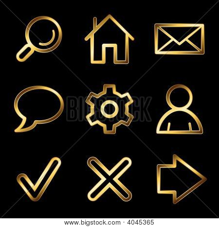 Gold Luxury Basic Web Icons V2