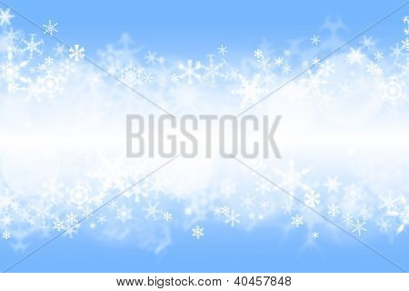 Blue winter wallaper with snowflakes