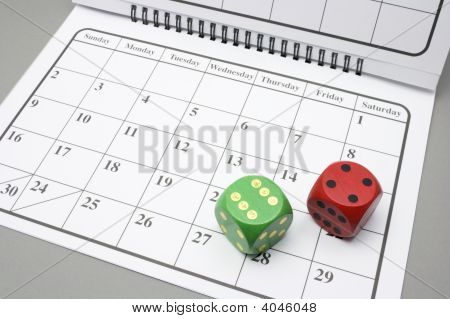 Dados no calendário