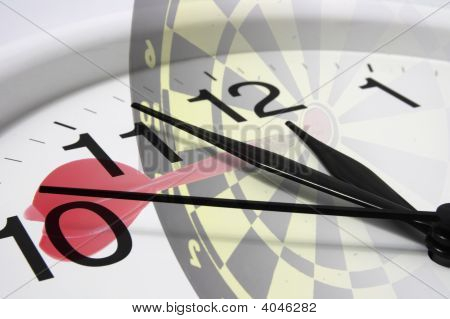 Dart Board And Clock