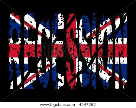 Recession With British Flag