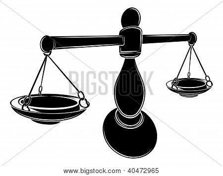 Stylised Scales Illustration