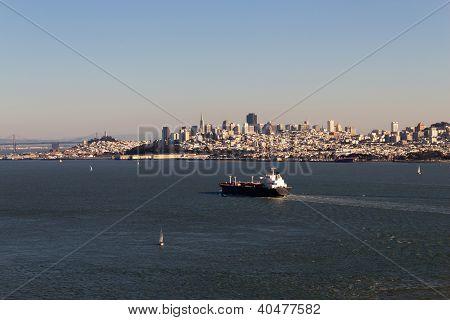 Cargo Ship In The San Francisco Bay
