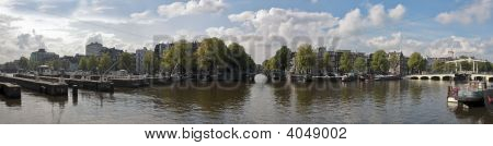 Panorama from Amsterdam innercity in the Netherlands