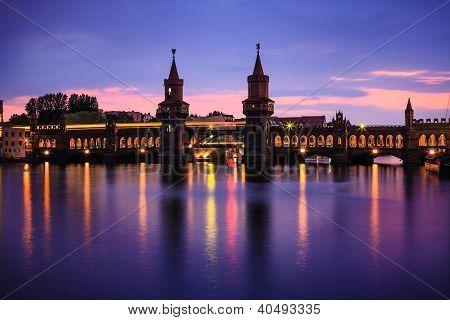 Oberbaum Bridge, Berlin At Night