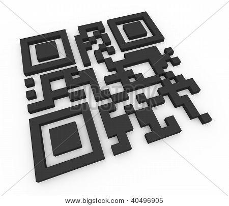 3D Qr Code (matrix Barcode)