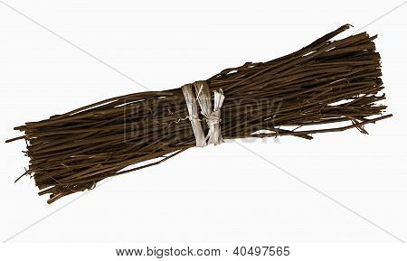 Bundle Of Twigs, Isolated Over White