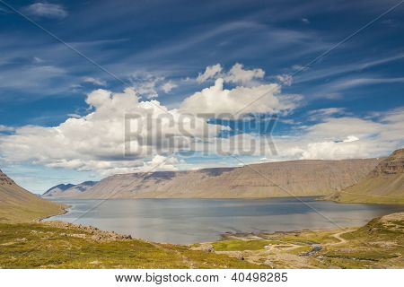 Beauty Big Arnarfjordur Fjord - Iceland, Westfjords.