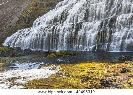 Waterfall - Dynjandi, Iceland, Westfjords.