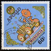 MONGOLIA - CIRCA 1973: A stamp printed in Mongolia shows Apollo 16 circa 1973