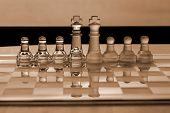 Chess Pieces - Business Concept Series: Strategy, Merger, Leadership, Competition.