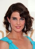 LOS ANGELES - AUG 11:  COBIE SMULDERS arriving to Emmy Awards 2011  on August 11, 2012 in Los Angele