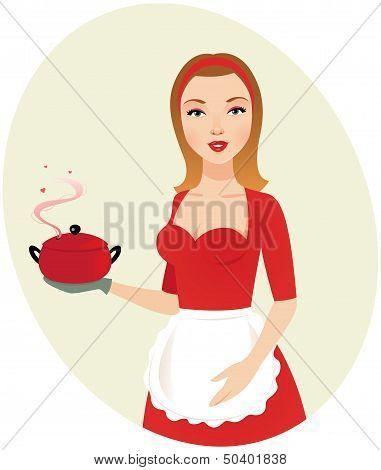 Sexy Girl Cook.eps