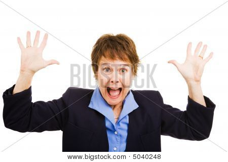 Businesswoman Terrified