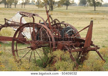 Vintage farming equipment