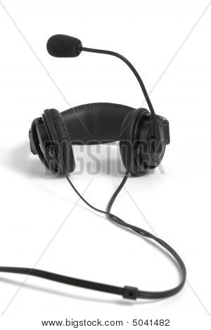 Black Headphone With Microphone
