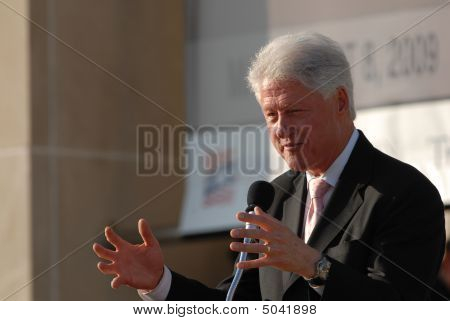 El ex Presidente Bill Clinton