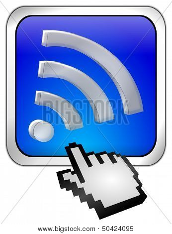 wireless WiFi Wlan button with cursor