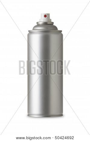 Blank aluminum spray can. Realistic photo image