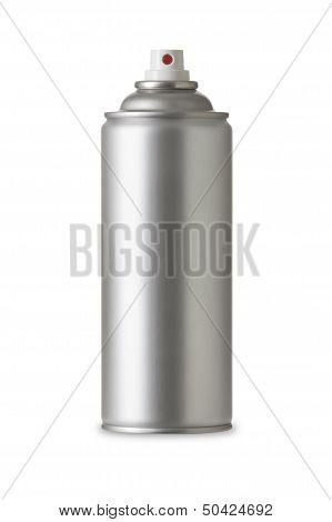 Blank aluminum spray can. Realistic photo image