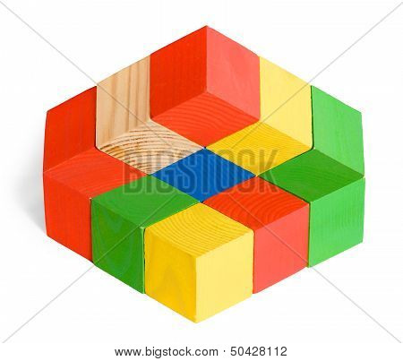 Impossible Toy, Unreal Cubes Construction, Illusion