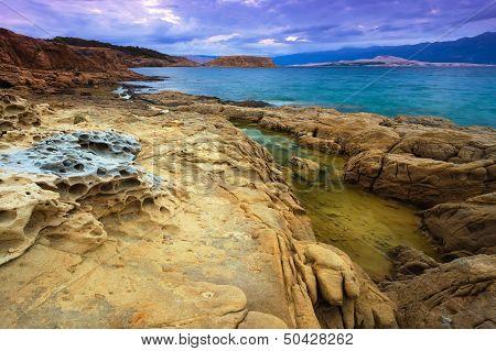 Landscape in Croatia Rab Lopar