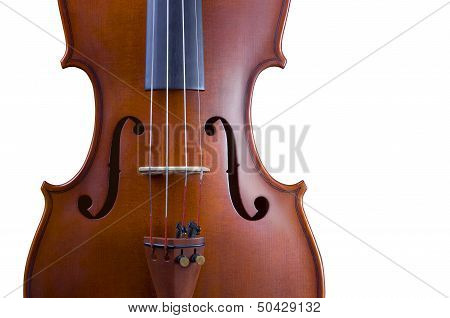 Classical wooden violin, music instrument