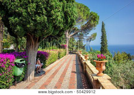 Villa Communale in Taormina