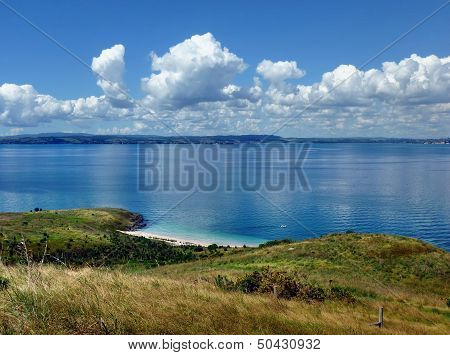 View From A Hill Onto The Sea