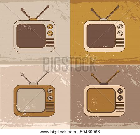 TV set icons