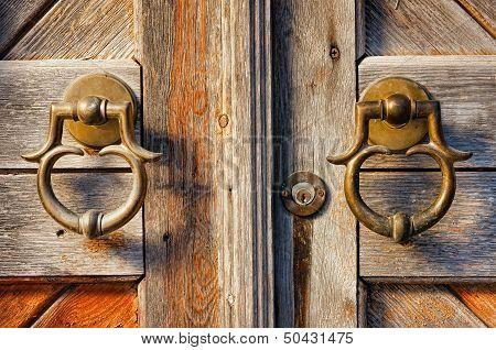 Old Brass Door Handles