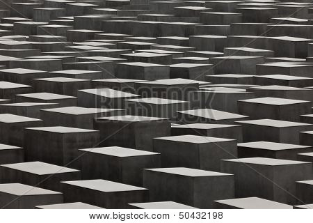 BERLIN, GERMANY - SEPTEMBER 22: Jewish Holocaust Memorial September 22th, 2011 in Berlin, Germany. Designed by architect Peter Eisenman and engineer Buro Happold, consists of 2,711 concrete slabs