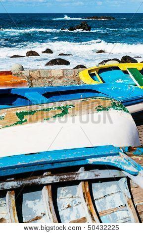 Old Rowboats In Taganana Coast