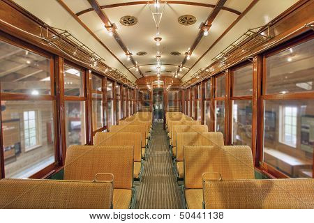 Old Historic Restored Tram Public Section