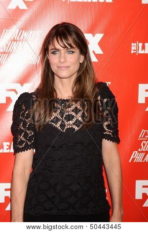 "LOS ANGELES - SEP 3:  Amanda Peet at the FXX Network Launch Party And Premieres For ""It's Always Sunny In Philadelphia"" And ""The League"" at the Lure on September 3, 2013 in Los Angeles, CA"