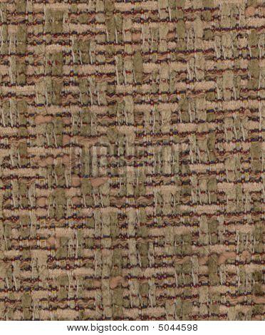 Vintage Tan Handwoven Silk Chenille Fabric Texture