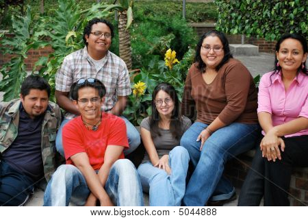 Group Of Attractive Hispanic Students