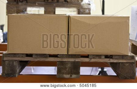 Pallet Of Boxes Ready For Shipment