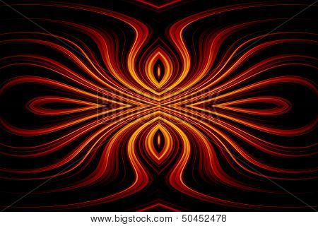 abstract colorful waves design on a black background