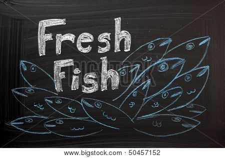Sign for Fresh Fish